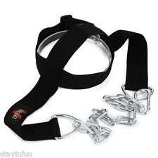 Head Harness Belt Neck Weight Lifting Strength Exercise Strap Black For Ahletes