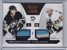 2010-11 LUXURY SUITE KRISTOPHER LETANG MAX TALBOT PRIME JERSEY PATCH /50 10-11