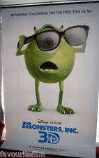 Cinema Banner: MONSTERS INC 3D 2013 John Goodman Billy Crystal Steve Buscemi