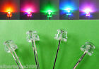 50pcs 5mm Colorful Flashing STRAW HAT WIDE ANGLE LED With 12V Free Resistors amy
