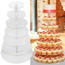 New 7T Acrylic Round Cake Candy Display Tower Cupcake Stand Birthday Wedding