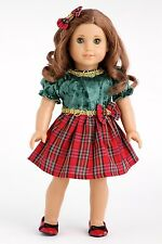 Christmas Classic - Clothes for 18 inch American Girl Doll, Holiday Dress Shoes