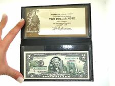 NEW UNC 2003A $2 TWO DOLLAR COLORIZED TEXAS STATE LANDMARKS CURRENCY NOTE