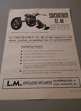 Volantino pubblicitario anni 60 macchine agricole buonissimo stato
