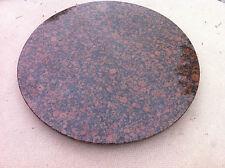 runde Tischplatte Naturstein Couchtisch Esstisch Küchentisch braun Granit Marmor