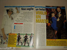 MARISA LAURITO RICCARDO MANAO clipping fotografia foto photo 1995 AS51
