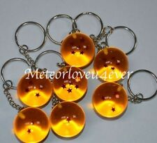 Anime DBZ Dragon Ball Z Cosplay Crystal Ball Stars Keychain Keyring Pendant 1pc