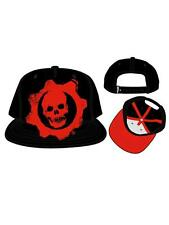 OFFICIAL GEARS OF WAR CRIMSON OMEN SYMBOL BLACK SNAPBACK CAP (NEW)