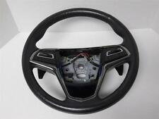 2013 2014 CADILLAC ATS BLACK LEATHER STEERING WHEEL W/ PADDLE SHIFTERS