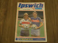 IPSWICH TOWN VS LUTON TOWN FOOTBALL PROGRAMME 28TH AUGUST 1984 LEAGUE ONE GAME