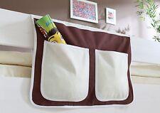 Pochette de rangement pour lit à étage et lit mezzanine Marron-Beige
