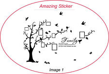 Family Photo Tree Bird Wall Stickers Wall Decals Wall Quotes Stickers