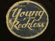 DISTRESSED LOGO BLACK YOUNG AND RESTLESS ADULT 3XL BIG  T SHIRT NICE FREE US SH
