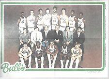 Chicago Bulls Topps 1980 NBA Basketball Vintage Team Poster