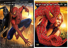 SPIDERMAN 2 and 3  SPECIAL EDITION REGION 2 DVD
