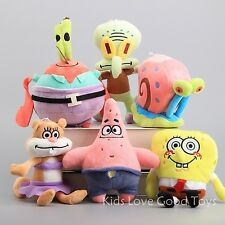New SpongeBob SquarePants Patrick Star Squidward Tentacles Plush Soft Toys 6PCS