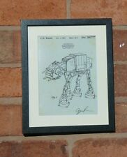 USA Patent Drawing STAR WARS FILM AT-AT WALKER DROID SCI FI MOUNTED PRINT 1979