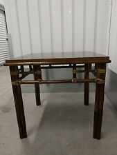Authentic McGuire Rattan Bamboo Side Table - Hollywood Regency - Occasional End