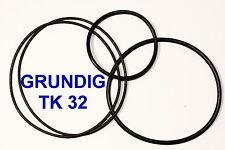 CORREAS SET GRUNDIG TK 32 MAGNETOFONO  EXTRA FUERTE NUEVAS DE FABRICA TK32