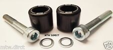 R&G RACING ONE PAIR BLACK BAR END SLIDERS BMW S1000XR (2015) BAR END PROTECTION