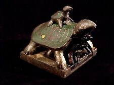 Opium Wars Era Set Of 7 Nesting Turtle & Duck Metal Herb Weights & Chops #A