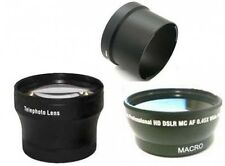 Wide + Tele Lens + Tube bundle for Panasonic DMC-FZ18 DMC-FZ28 DMC-FZ35 DMC-FZ38