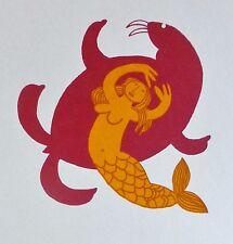 RIE MUNOZ 1921-2015 Mermaid & Walrus  SERIGRAPH 1985 US ALASKAN ARTIST