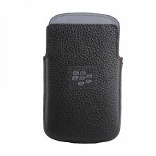 Genuine BlackBerry Black Leather Pocket Pouch Cover for Q10 HDW-50704-001 New