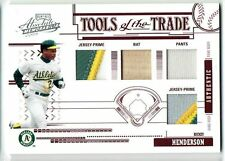 2005 Playoff Absolute Tools of the Trade Rickey Henderson QUAD 4 COLOR #/10 A's