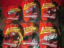 lot of 6 JOHNNY LIGHTNING lightning WHEELS 2007 different carbon composite body