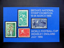 GB 1966 World Cup Football Stampex M/Sheet FP7144
