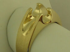 Men's Solitaire Ring Mounting 14K Solid Yellow Gold For 6.2 mm Round Diamond
