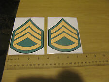 US Army National Guard Rank Staff Sergeant e6 nco Bumper Sticker Decal