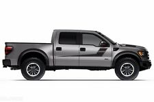 Vinyl Decal Rally Stripes Wrap Kit for Ford F-150 Raptor SVT 10-14 Matte Black