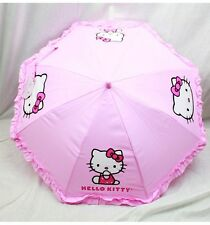NWT Hello Kitty Umbrella by Sanrio Newest Style for Rainy Day or Sunny Day