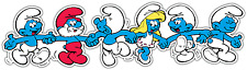 "The Smurfs Kids Cartoon Car Bumper Window Vinyl Sticker Decal 8""X2"""