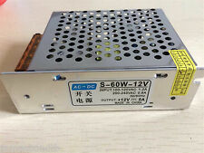 Input 100-240VAC Output 12VDC 5A 60W Regulated Switching Power Supply