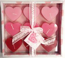 CANDELE CUORE PZ 9  San Valentino Amore Cera Luce Addobbi Decorazioni 060 543308