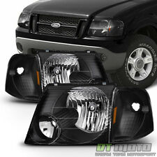 Black 2002-2005 Ford Explorer Headlights +Corner Signal Lights Left+Right 02-05