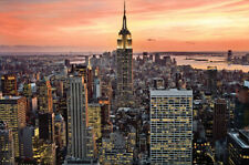 New York City (Empire State Building, Sunset) Art Poster Print Poster, 36x24