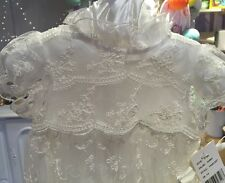 NWT Laura Ashley London Baby-Girls Newborn Silk Christening Gown 0-3 Ivory
