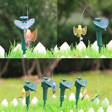 New Solar Powered Flying Fluttering Hummingbird Flying Birds Random Garden Decor