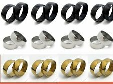 36pcs 10mm wide black golden slver Stainless steel Rings Jewelry lots wholesale