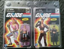 GI JOE SDCC ZARANA lot pink & cold slither 2011 25th Comic Con Exclusive + Bonus