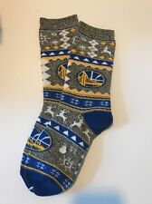 Golden State Warriors Ugly Sweater Holidays Adult Socks -1 Pair-Med Brand New(A)