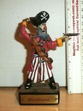 HAND CRAFTED  90mm 1/16 SCALE  CLAY PIRATE BLACKBEARD TOY SOLDIER