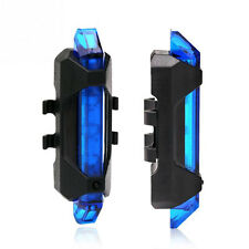 USB Rechargeable Cycling Bike Tail Light LED Rear Safety Warning Lamp Blue