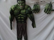 Avengers Hulk Classic Muscle Costume, Green/Brown, Large 10-12