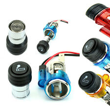 NEW 12v Illuminated Car Cigarette Cigar Lighter Socket Replacement Kit Light Up