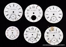 Lot of 6 Antique Hampden Watch Face Dials 18s 16s 6s Steampunk Altered Art 4977